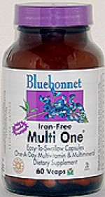 Bluebonnet Multi One (Iron Free) - 60 vcaps - Product Image
