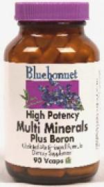 Bluebonnet Multiminerals Plus Boron (With Iron) - 90 vcaps - Product Image