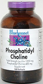 Bluebonnet Phosphatidyl Choline 420 mg. Softgels - 120 softgels - Product Image