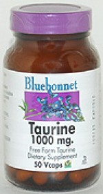 Bluebonnet Taurine 1000 mg. - 50 vcaps - Product Image