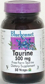 Bluebonnet Taurine 500 mg. - 50 vcaps - Product Image
