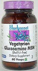 Bluebonnet Vegetarian Glucosamine Plus MSM - 60 vcaps - Product Image