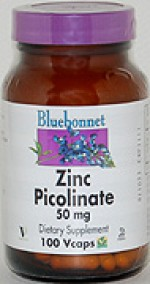 Bluebonnet Zinc Picolinate 50 mg. - 100 vcaps - Product Image