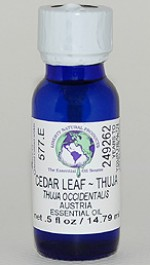 Cedar Leaf ~ Thuja - .5 oz. - Product Image