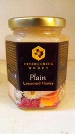 Desert Creek Honey, RAW whipped Texas Honey - 14 oz. - Product Image