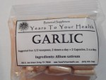 Garlic - 50 Capsules - Product Image