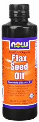 NOW - Organic Flax Seed Oil - Product Image