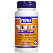 NOW Vitamin D3 1000 IU - 90 Softgels - Product Image