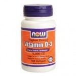 NOW Vitamin D 3 5000 - 120 Softgels - Product Image