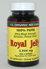 YS Organic Bee Farms 100% Pure Royal Jelly 2000 mg. - 35 caps - #7H3 - Product Image