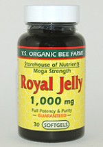 YS Organic Bee Farms 1,000 mg. Royal Jelly Softgels - 30 softgels - #727 - Product Image