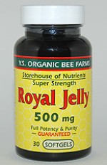 YS Organic Bee Farms 500 mg. Royal Jelly Softgels - 30 softgels - #724 - Product Image
