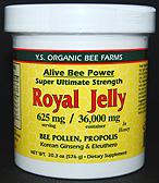 YS Organic Bee Farms Alive Bee Power 36,000 mg. Fresh Royal Jelly - 20.3 oz. - #420 - Product Image