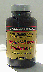 YS Organic Bee Farms Bee's Winter Defense - Cold and Flu Formula Capsules - #979 - Product Image