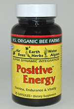 YS Organic Bee Farms Positive Energy Capsules - 35 caps - #PC3 - Product Image