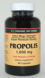 YS Organic Bee Farms Propolis Capsules 1,000 mg. - 90 caps - #970 - Product Image