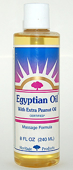 Aura Glow Massage Oil, Egyptian Oil with Extra Peanut Oil - 8 oz. - Product Image