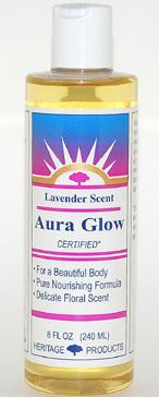 Aura Glow Massage Oil, Lavender - 8 oz. - Product Image
