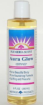 Aura Glow Massage Oil, Plumeria - 8 oz. - Product Image
