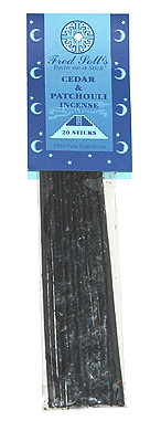 Fred Soll's Cedar and Patchouli Incense - 20 sticks - Product Image
