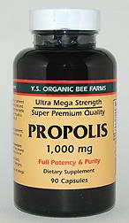 YS Organic Bee Farms Propolis Capsules 1,000 mg. - 90 caps - #970 - Product Image